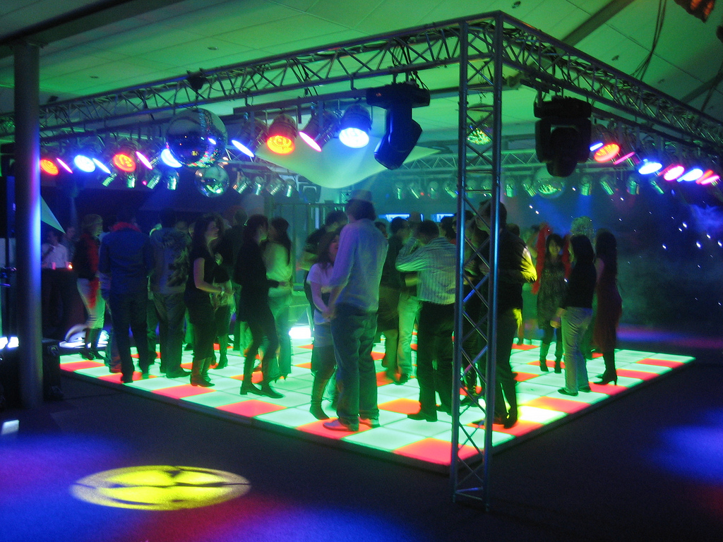 Verlichte dansvloer - Sound & Motion